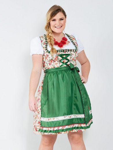Sara Lindholm by Happy Size Dirndlbluse mit Rüschenärmel