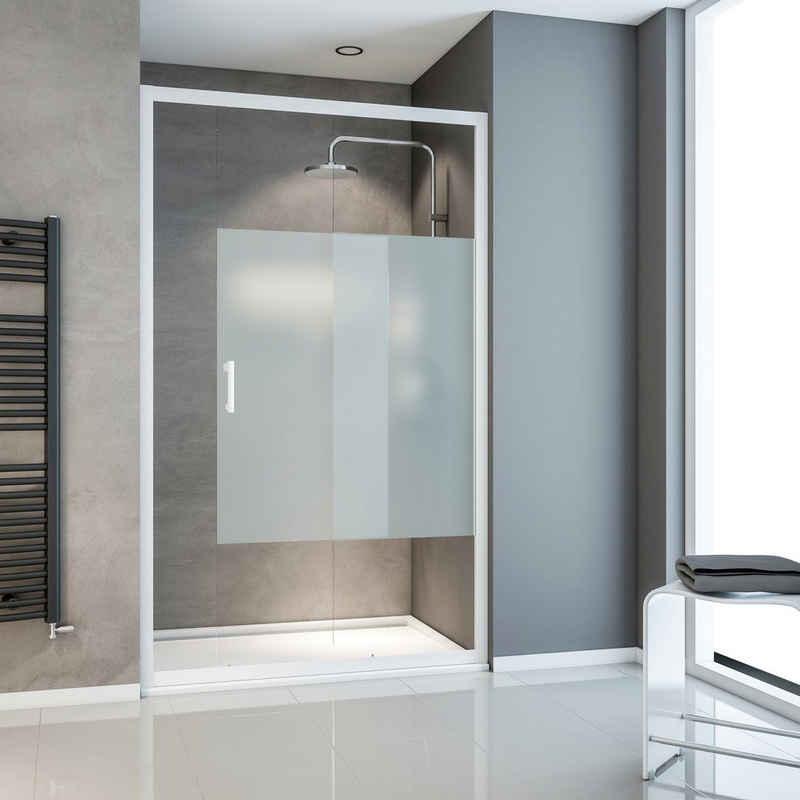 Schulte Dusch-Schiebetür »Sunny«, 120x190 cm, Einscheibensicherheitsglas, mit umlaufenden Aluminiumprofilen