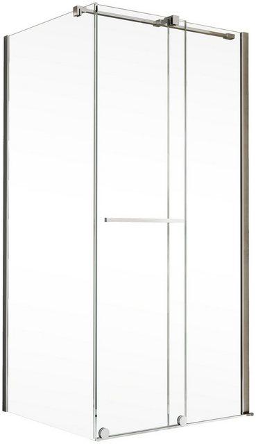 Duschen und Zubehör - Schulte Eckdusche »Toura«, BxT 120x90 cm, Einscheibensicherheitsglas, Höhe inklusive Stabilisationsbügel 2015 mm  - Onlineshop OTTO