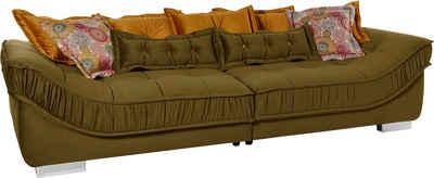 Leonique Big-Sofa »Diwan«, Breite 300 cm, lose Zier- und Rückenkissen
