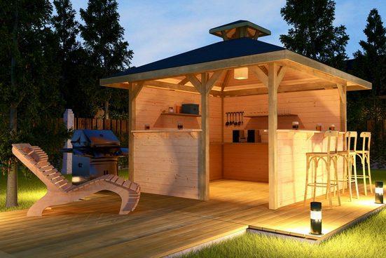 WEKA Pavillon-Set »Gartenoase«, BxT: 380x380 cm