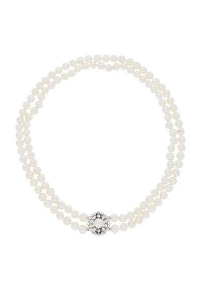 JuwelmaLux Collier »Collier Weißgold« (1-tlg), Damen Perlencollier Weißgold 585/000, inkl. Schmuckschachtel