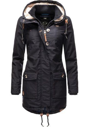 Ragwear Winterjacke »Jane Black Label« modische Damen Outdoorjacke mit viel Liebe zum Detail
