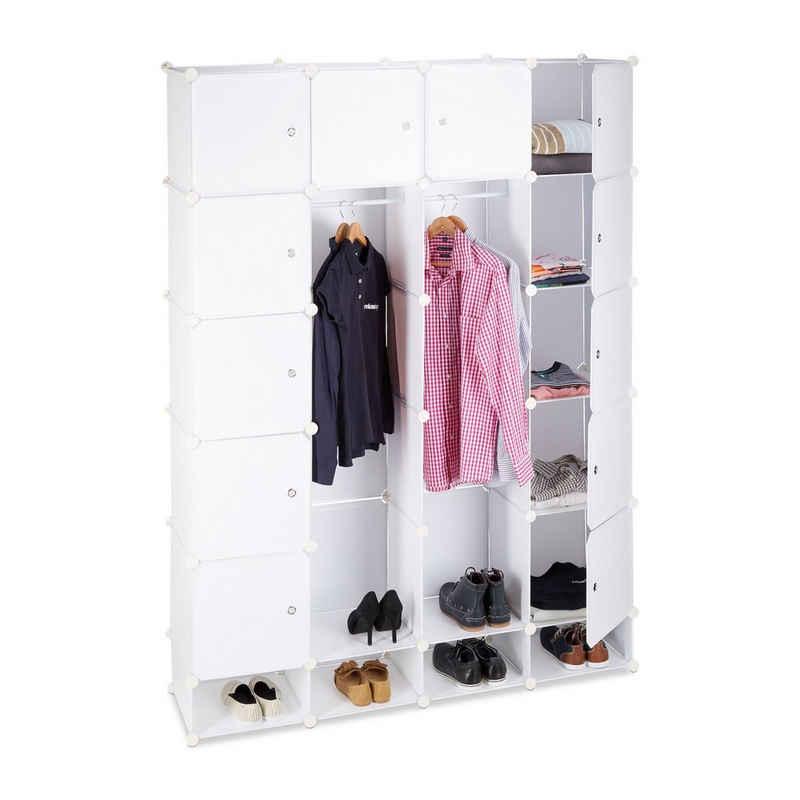 relaxdays Kleiderschrank »Kleiderschrank Stecksystem 18 Fächer«