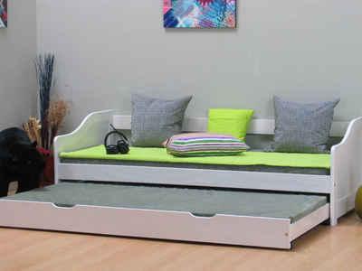 ebuy24 Kinderbett »Einzelbett Leonie 90x200 mit Ausziehbett und 2 Lat«