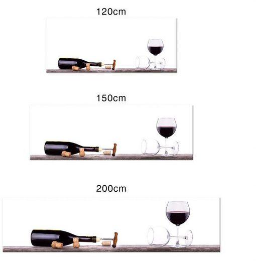 Wall-Art Küchenrückwand »Spritzschutz Küche Weinflasche«, (1-tlg)