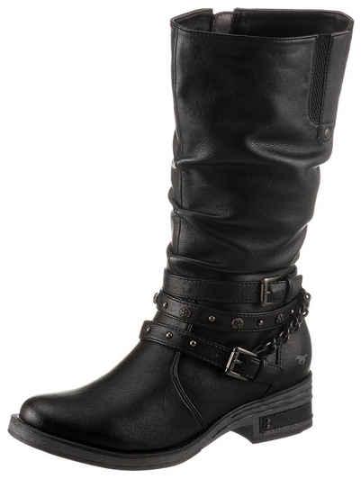 Mustang Shoes Stiefel mit Nietenband und Zierkette