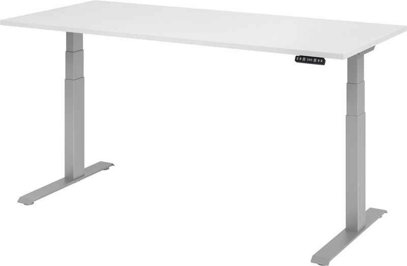 bümö Schreibtisch »OM-XDKB19«, elektrisch höhenverstellbar mit Memoryfunktion - Rechteck: 180x80 cm - Dekor: Weiß