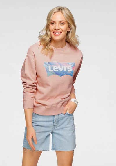 Levi's® Sweatshirt mit Batwing-Druck in Wolkenoptik