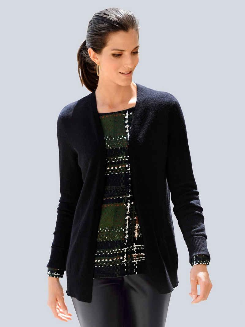 Alba Moda Strickjacke aus hochwertiger reiner Kaschmirware