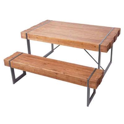 MCW Essgruppe »MCW-A15-EG-1«, (Set, 1x Esszimmertisch, 1x Sitzbank), Standfeste Konstruktion, Inklusive Fußbodenschoner, Einfacher Aufbau