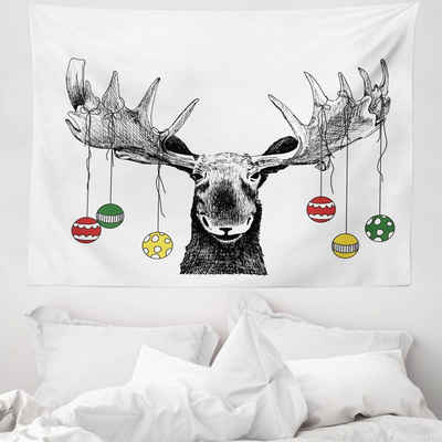 Wandteppich »aus Weiches Mikrofaser Stoff Für das Wohn und Schlafzimmer«, Abakuhaus, rechteckig, Weihnachten Flüchtiger Noel Ornament
