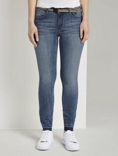 TOM TAILOR Skinny-fit-Jeans »Alexa Skinny Jeans mit gefranstem Bein«