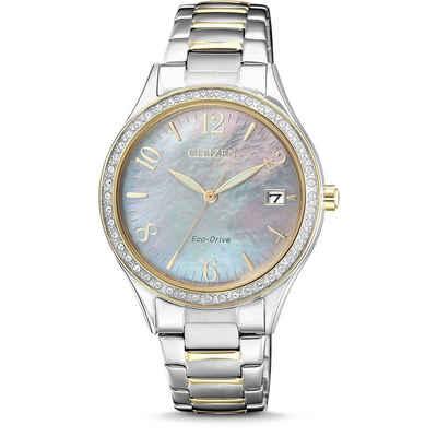 Citizen Solaruhr »EO1184-81D«, L Elegance Damen Solar Armbanduhr Perlmutt Eco-Drive