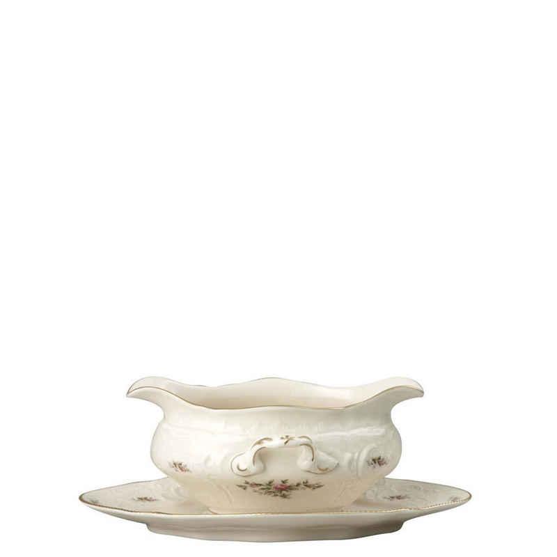 Rosenthal Sauciere »Sanssouci Elfenbein Moosrose neu Poliergold Ramona Sauciere 1-tlg.«, Porzellan