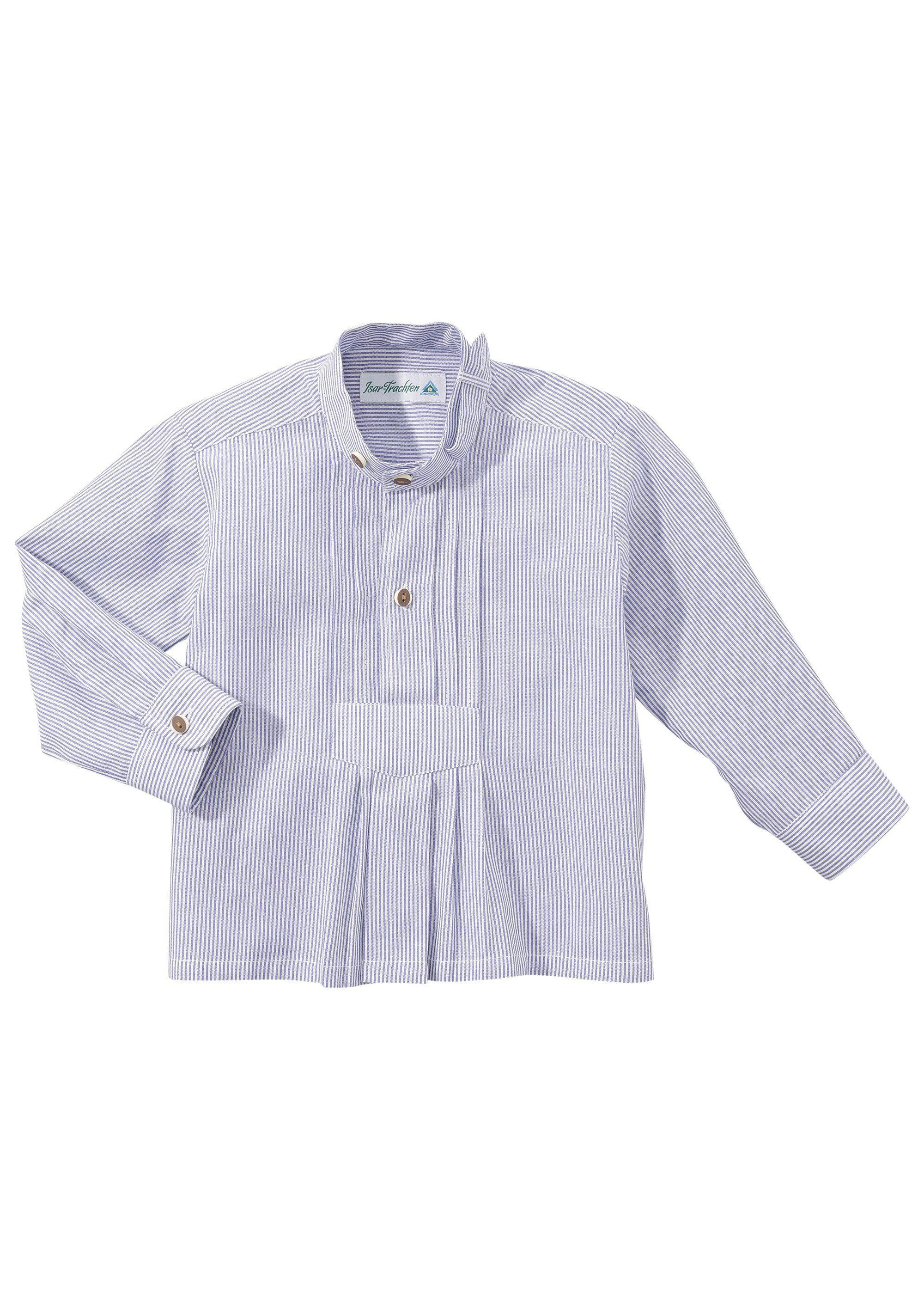 Herren,  Kinder Isar-Trachten Trachtenhemd Kinder mit Stehkragen  | 04260537751646
