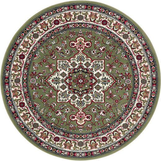 Teppich »Parun Täbriz«, NOURISTAN, rund, Höhe 9 mm, Kurzflor, Orient-Optik