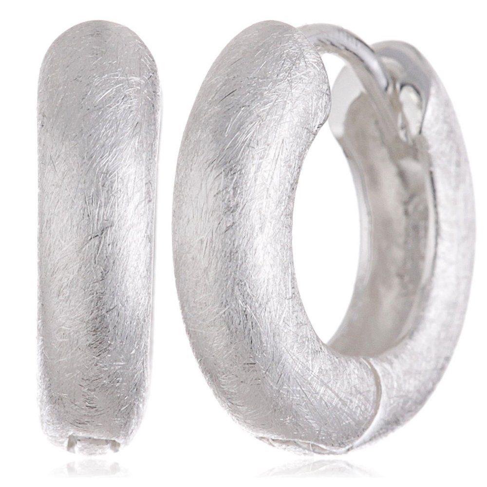Vinani Paar Creolen, Vinani Klapp Creolen rund gebürstet Sterling Silber 925 Ohrringe CRG online kaufen | OTTO