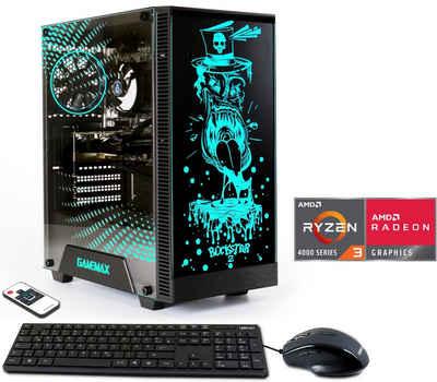 Hyrican Rockstar 6664 Gaming-PC (AMD Ryzen 3 4300 GE, 16 GB RAM, 960 GB SSD, Luftkühlung)