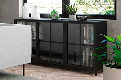 Homexperts Sideboard »Choice«, designorientiertes Sideboard mit Glastüren