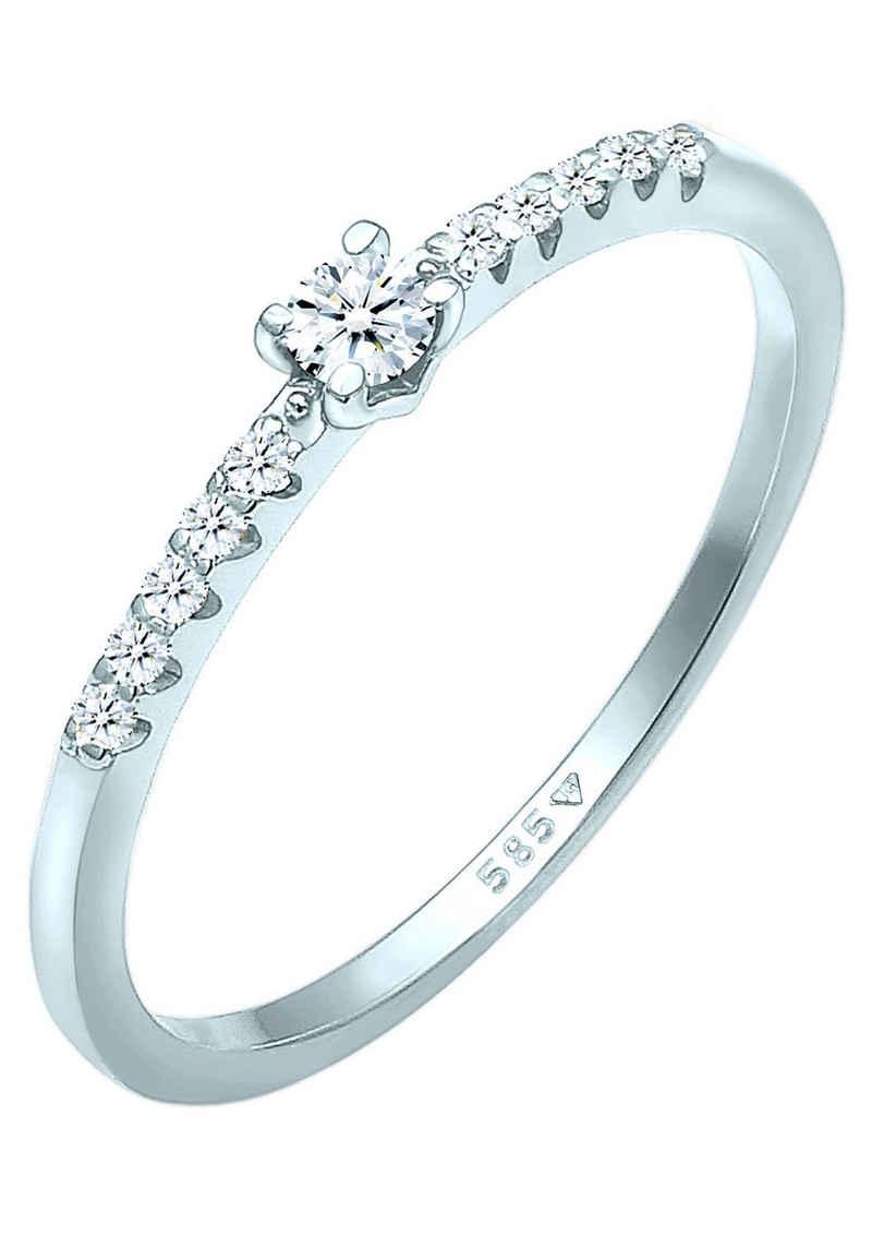 Elli DIAMONDS Verlobungsring »Elli DIAMONDS Ring Diamant Verlobung Hochzeit, 0611881320«, mit Brillanten