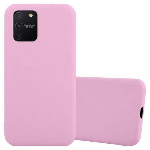 Cadorabo Handyhülle »TPU Silikonhülle Schutzhülle Ultra Slim Soft« Samsung Galaxy A91, Cadorabo Hülle für Samsung Galaxy A91 TPU CANDY in rosa