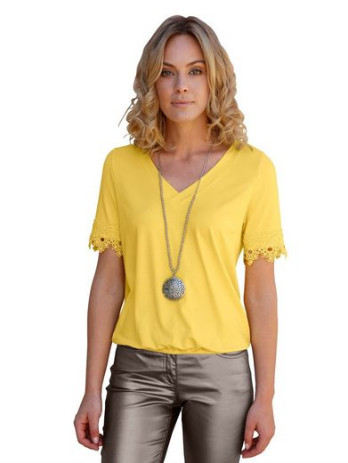 Amy Vermont V-Shirt mit Spitze