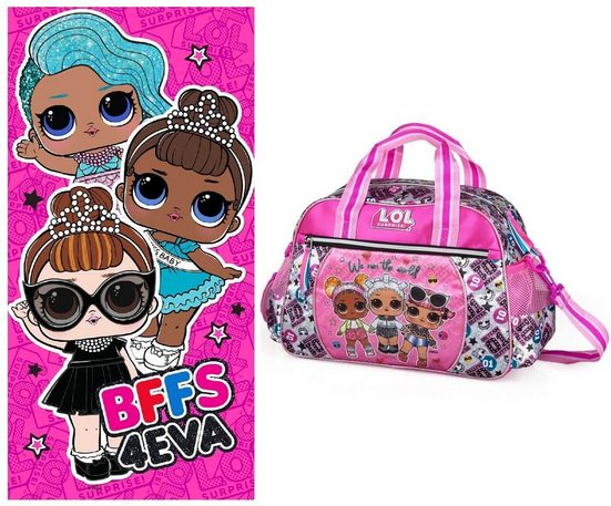 LOL Surprise Sporttasche »LOL Surprise - Sporttasche und Badetuch« (Reißverschluss, Mädchen), Geringes-Gewicht
