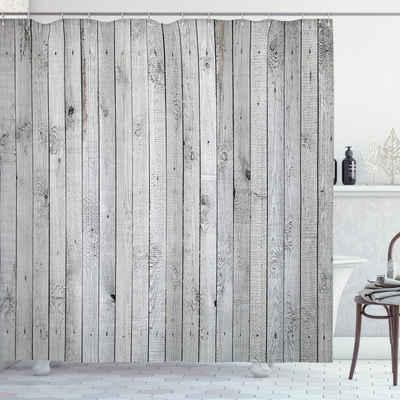 Abakuhaus Duschvorhang »Moderner Digitaldruck mit 12 Haken auf Stoff Wasser Resistent« Breite 175 cm, Höhe 200 cm, Grau und Weiß Senkrechte Board