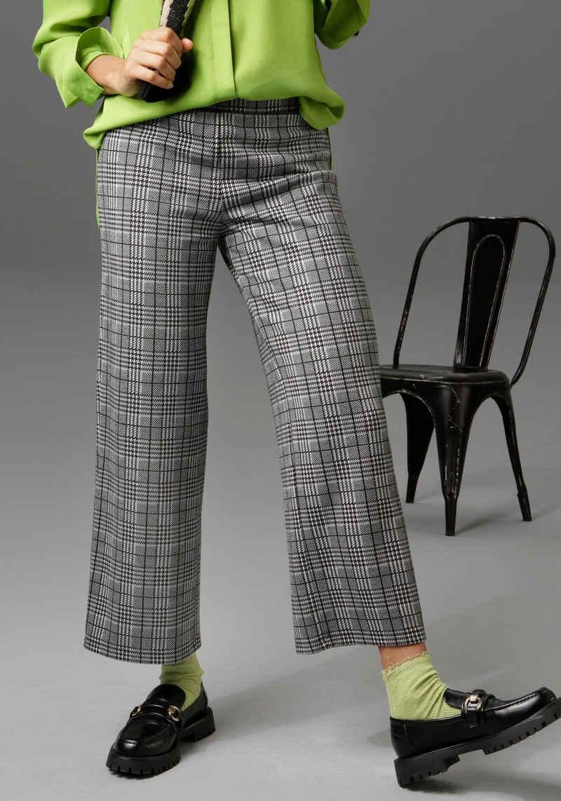 Aniston CASUAL Culotte im Hahnentritt- oder Karo-Muster