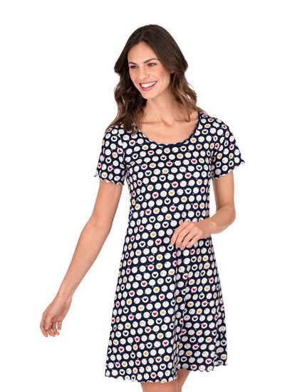 Trigema Nachthemd mit Herzchen-Motiv