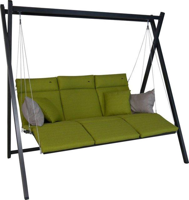 ANGERER FREIZEITMÖBEL Hollywoodschaukel »Relax«, 3-Sitzer, grün | Garten > Gartenmöbel > Hollywoodschaukeln | Angerer Freizeitmöbel