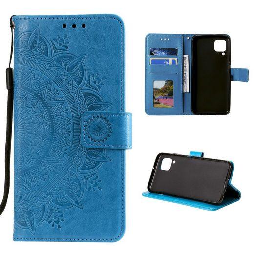 CoverKingz Handyhülle Samsung Galaxy A12 Galaxy M12 16,5 cm (6,5 Zoll), Handytasche mit Mandala Motiv und Kartenfach