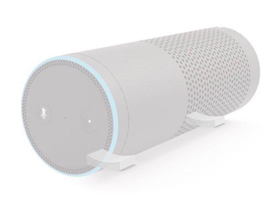 Hama »Hama Ablage-Fuß horizontal Halterung Halter für Amazon Echo 1. Gen und Echo Plus« Lautsprecherständer, (2-tlg., Amazon Echo 1. Generation und Echo Plus, sicherer Halt, platzsparend, einheitliches Design)