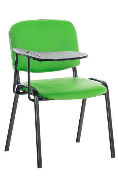 CLP Besucherstuhl »Ken mit Klapptisch Kunstleder«, mit gepolsterter Sitzfläche