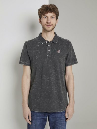 TOM TAILOR Poloshirt »Poloshirt in Stone-Washed-Optik«