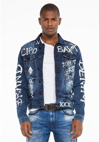 Cipo & Baxx Cipo & Baxx Jeansjacke su handbemalter...