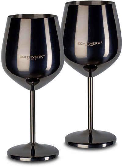 ECHTWERK Weinglas, Edelstahl, PVD Beschichtung, 2-teilig