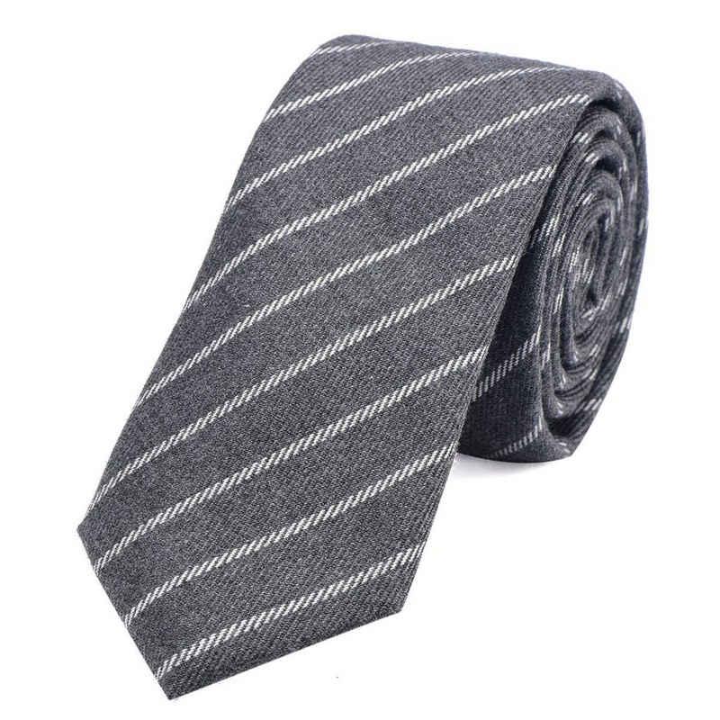 DonDon Krawatte »Herren Krawatte 6 cm mit Karos oder Streifen« (1-St) Baumwolle, kariert oder gestreift, für Büro oder festliche Veranstaltungen