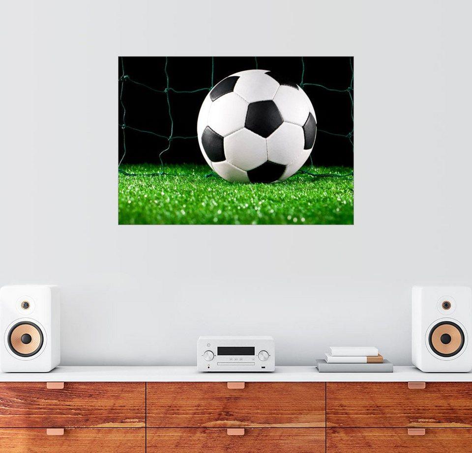 posterlounge wandbild premiumposter fußball im tor