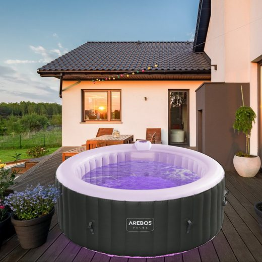 Arebos Pool »PALMA«, 180 X 140 cm für 4 Personen