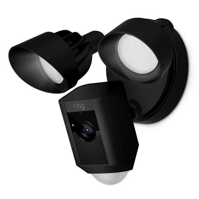 Ring »Floodlight Cam Sicherheitskamera m Flutlicht schwarz« Überwachungskamera