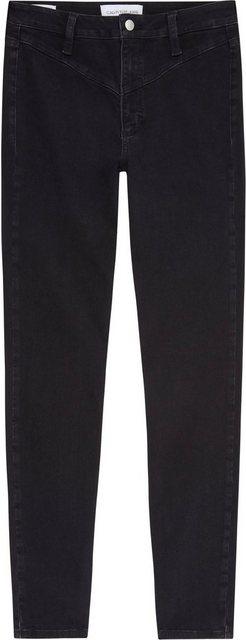 Hosen - Calvin Klein Jeans Skinny fit Jeans »HIGH RISE SKINNY ANKLE« mit kleiner V Passe vorn hinten ›  - Onlineshop OTTO