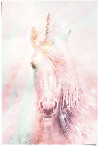 Reinders! Poster »Poster Magisches Einhorn Farbenfroh - Fantasie - Pferd«, Einhorn (1 Stück)