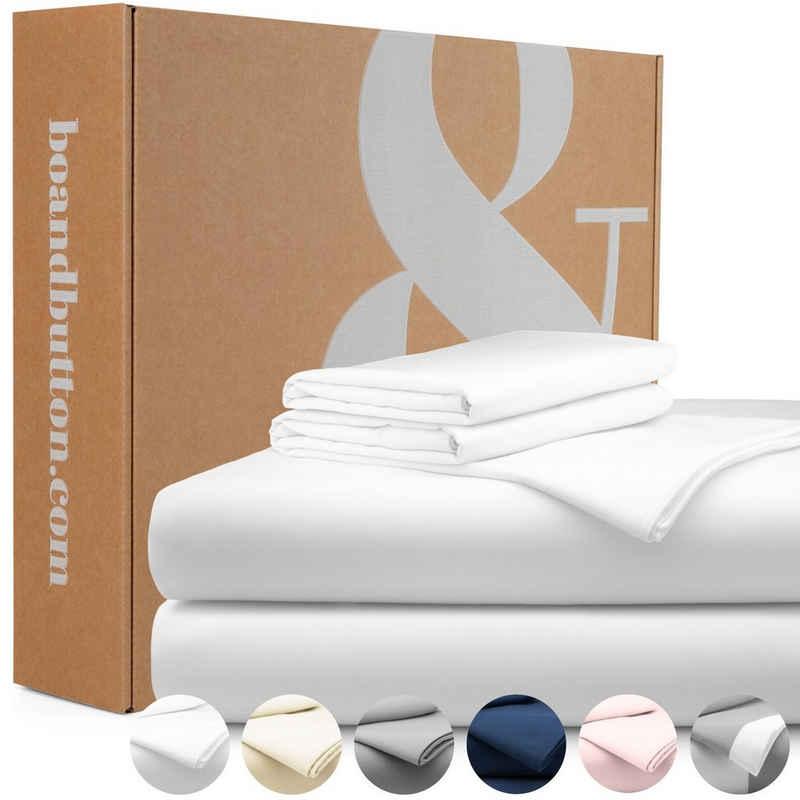 Bettwäsche »Mako Satin«, bo&button, Echte Bio Luxusqualität - ALLE GRÖßEN als Bettwäsche Sets - 100% Bio Baumwolle, GOTS & Fairtrade