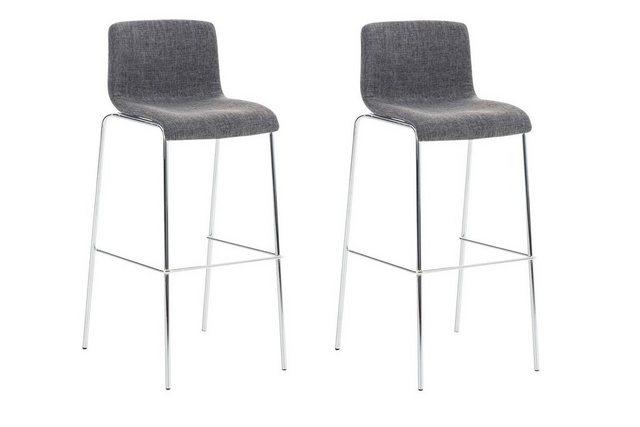 Sessel und Hocker - CLP Barhocker »Hoover Stoff« (Set, 2er), 4 Fuß Metallgestell  - Onlineshop OTTO