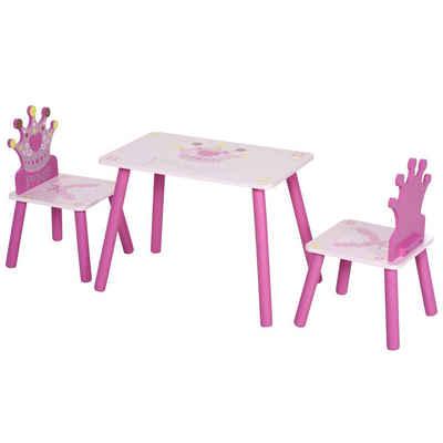 HOMCOM Kindersitzgruppe »Prinzessinen Tisch mit Kinderstuhl«