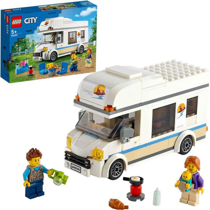 LEGO® Konstruktionsspielsteine »Ferien-Wohnmobil (60283), LEGO® City«, (190 St), Made in Europe