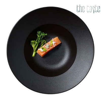 The Taste Teller »THE TASTE: Gourmetteller, tief, Ø 23 cm, Porzellan, schwarz - 2er Set«