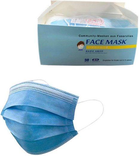 Community-Masken, (Packung, 50-tlg), Einweg-Masken für Kinder